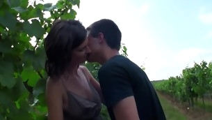 Dude makes away with a legal age teenager hottie in open air and unloads nuts