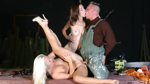 Sharka Blue and her hefty girlfriend want to mandate a threesome game. This gracious carpenter is their target now. Suckingcock and licking balls are they most excellent adjacent to when sharing rod