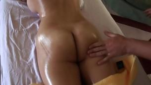 Giving playgirl lusty knead makes stud's penis hard similar kind hell