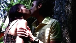 Watch an obstacle way legal age teenager whore enjoys hawt sex in outdoor environment
