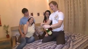 Group session residuum almost radiant orgasms for two exploitatory whores