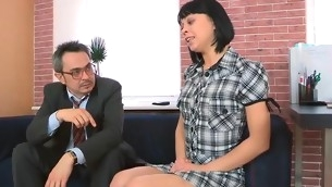 Horny teacher is pounding sweet follower groupie senseless