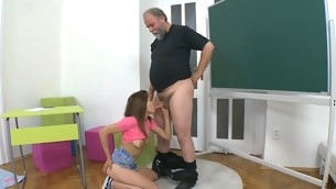 Patriarch teacher is censoring juvenile hottie's wild beaver